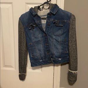Jean jacket/hoodie